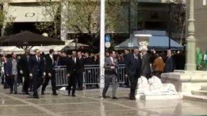 Πιτίνο, Αλβέρτης και παίκτες στην κηδεία του Θανάση Γιαννακόπουλου (vid)