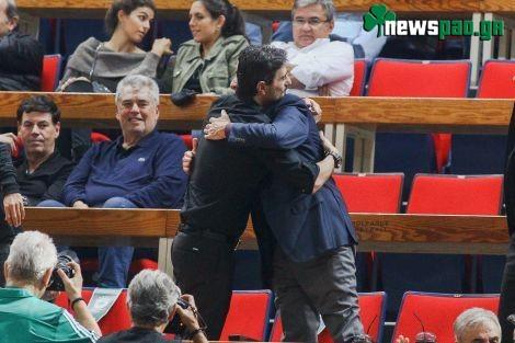 Στο ΟΑΚΑ ο Πιτίνο - Η θερμή αγκαλιά με Γιαννακόπουλο (pics-video)