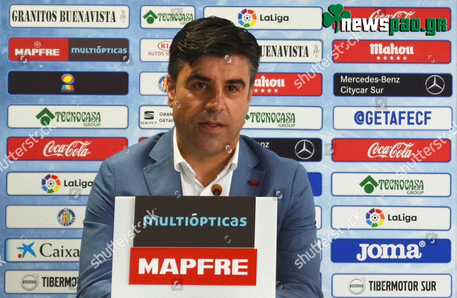 Mandatory Credit: Photo by David Ramiro/EPA-EFE/Shutterstock (9723582a) Nico Rodriguez Getafe's new sports director Nico Rodriguez, Spain - 21 Jun 2018 Nico Rodriguez, new sports director of Spanish Primera Division soccer club Getafe CF, speaks during a press conference for his presentation at Coliseum Alfonso Perez stadium in Getafe, near Madrid, Spain, 21 June 2018.