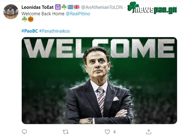 Το tweet του Πιτίνο για την επιστροφή του! (pic)