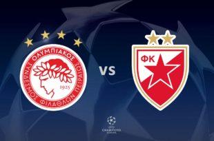 Ολυμπιακός - Ερυθρός Αστέρας Live Streaming | ποδόσφαιρο | σήμερα
