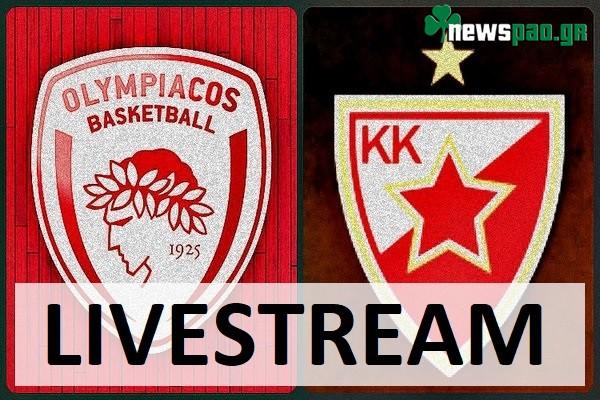 Ερυθρός Αστέρας - Ολυμπιακός Live Streaming | Euroleague