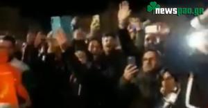 Χαμός έξω από το Palau Blaugrana για τον Παναθηναϊκό! (video)