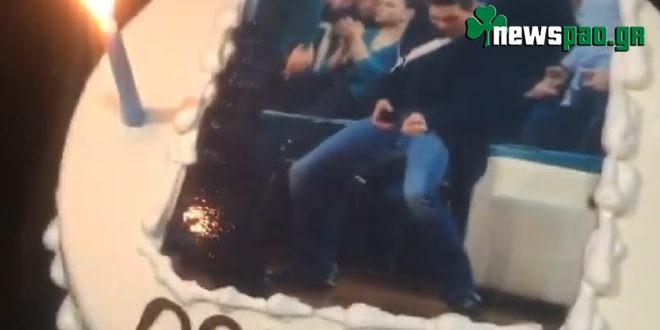 """Επος! Ο Γιαννακόπουλος έκοψε τούρτα για την Α2 - """"Να τα χιλιάσετε"""" (vid)"""