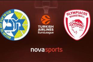 Μακάμπι - Ολυμπιακός Live Streaming Ζωντανά | Maccabi - Olympiacos 27-2-2020