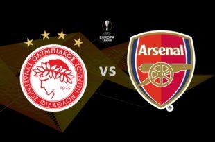 Ολυμπιακός - Άρσεναλ Live Streaming Ζωντανά | Olympiacos - Arsenal 20-2-2020