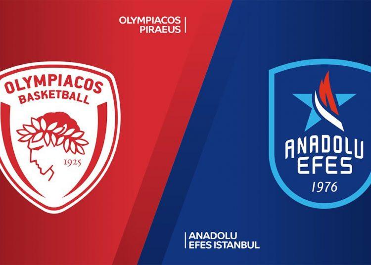 Ολυμπιακός - Εφές Live Streaming: Olympiacos - Efes ζωντανά | Κανάλι