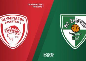 Ολυμπιακος - Ζαλγκίρις Live Streaming: Olympiacos - Zalgiris