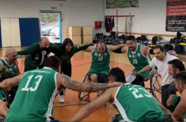 Παναθηναϊκός - Ομάδα μπάσκετ με αμαξίδιο: Πρεμιέρα με νίκη
