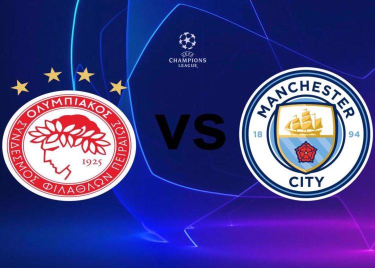 Ολυμπιακός - Μάντσεστερ Σίτι Live Streaming: Olympiacos - Manchester City