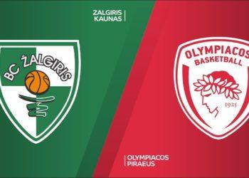 Ζαλγκιρις - Ολυμπιακος Live Streaming: Zalgiris Kaunas - Olympiacos