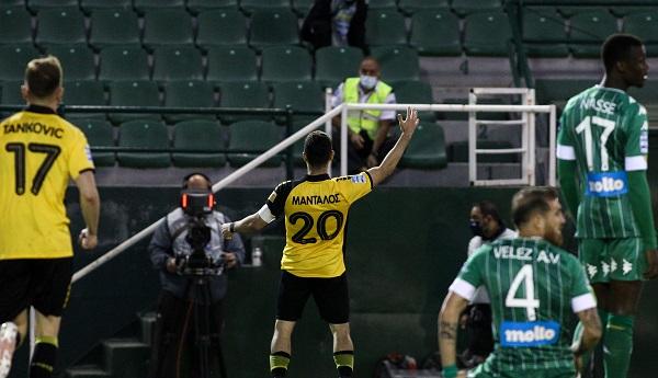 Μάνταλος και 1-0 η ΑΕΚ (vid)