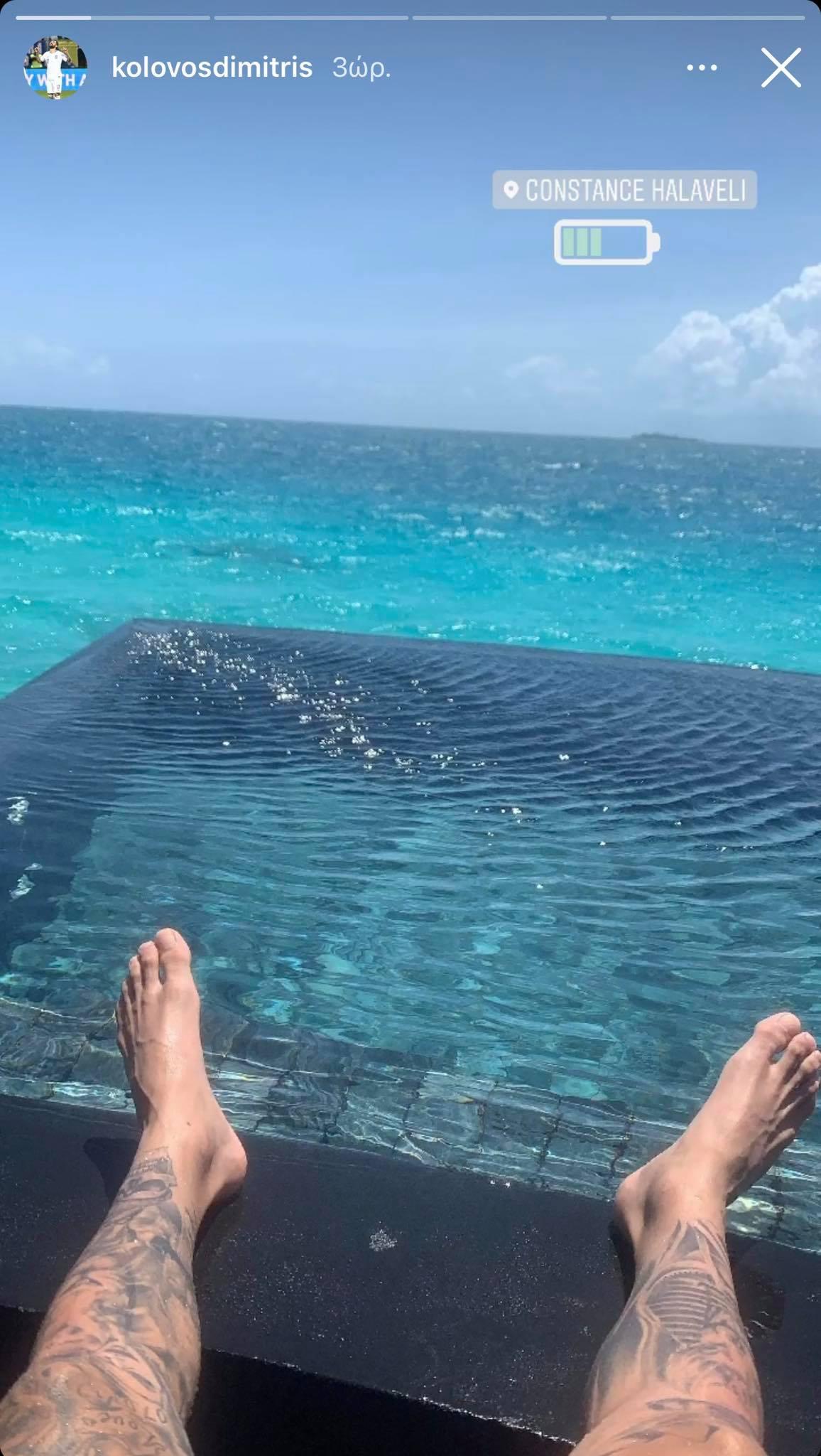 Στις Μαλδίβες ο Κολοβός - Ξεχειλίζει από έρωτα η ανάρτησή του! (pic)