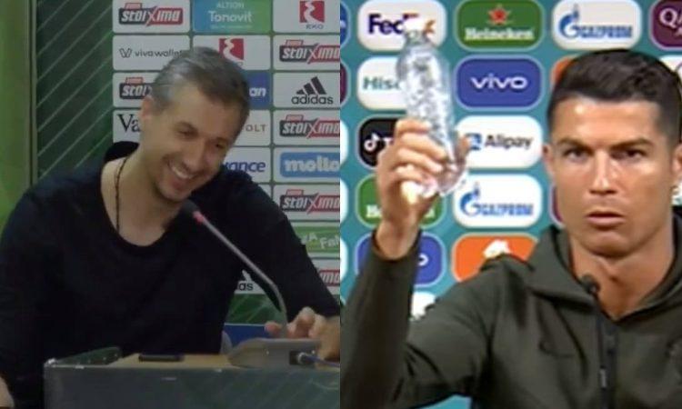 Έπος: Μιμήθηκε Ρονάλντο ο Διαμαντίδης - Το blooper με το μπουκάλι! (vid)