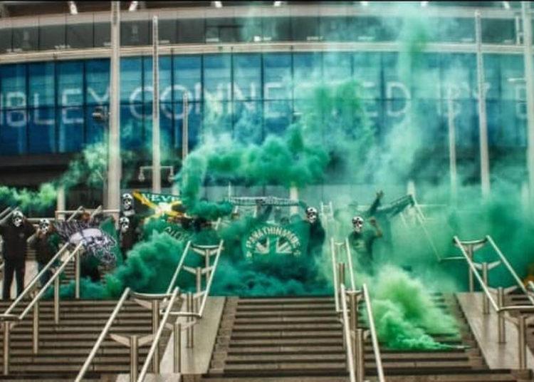 Παναθηναϊκός: Η Θύρα 13 «έβαψε» πράσινο το Γουέμπλεϊ!