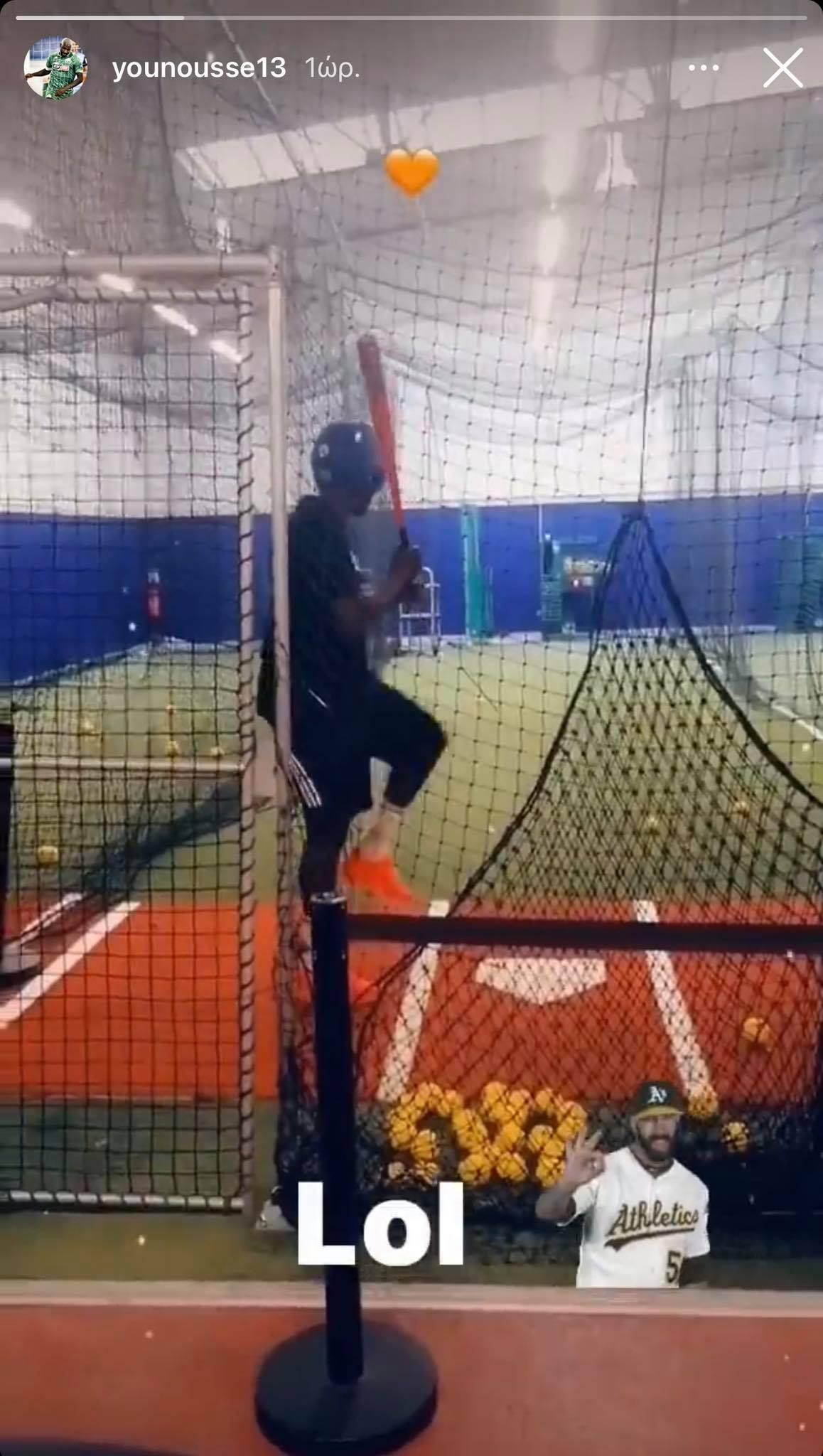 Μαθαίνει μπέιζμπολ ο Σανκαρέ! (pic)