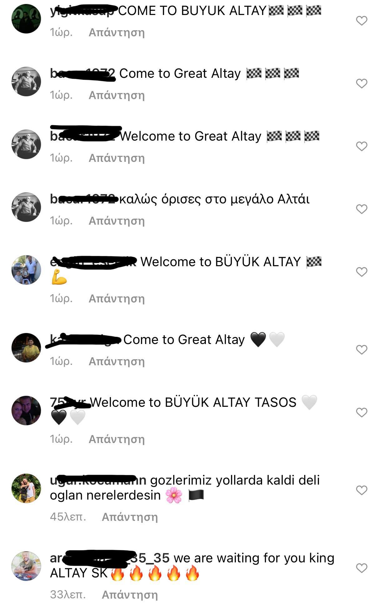 «Ντου» Τούρκων στον Χατζηγιοβάνη: «Βασιλιά, σε περιμένουμε στην σπουδαία Αλτάι!» (pic)