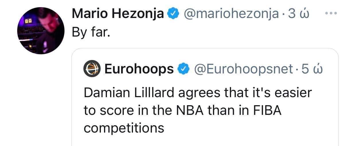 Χεζόνια: «Πιο εύκολα στο NBA από ότι στη FIBA»
