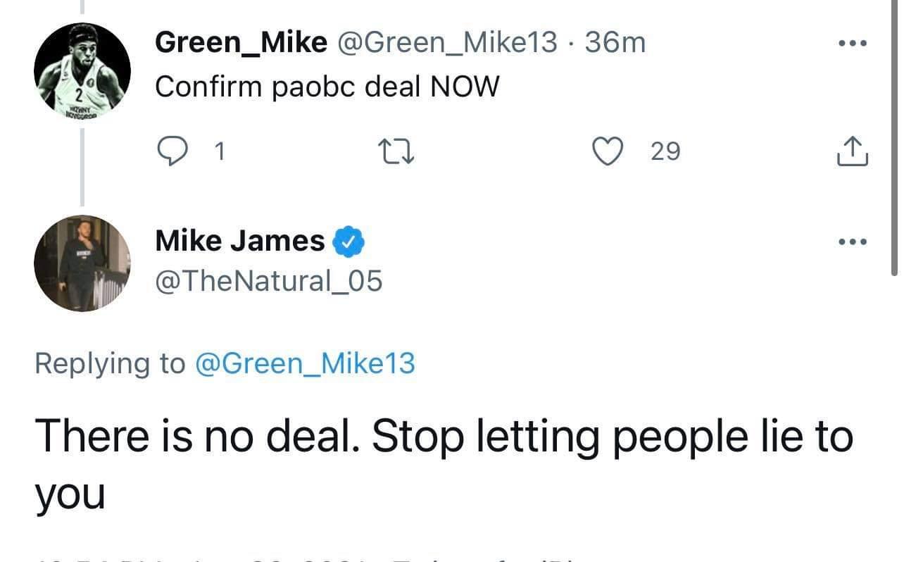 Πήρε θέση για Παναθηναϊκό ο Τζέιμς: «Καμία συμφωνία»