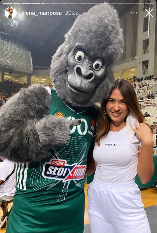 Η νέα μασκότ του Παναθηναϊκού με την Έλενα Κρεμλίδου! (pic)