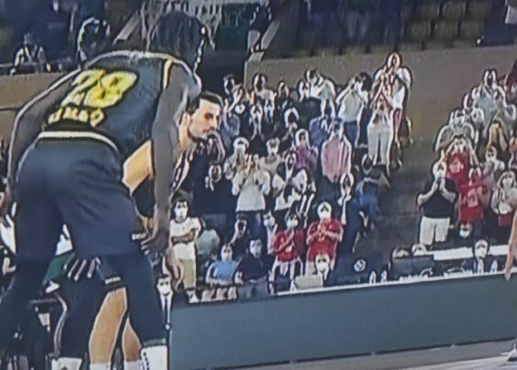Μονακό-Παναθηναϊκός: Πανό κατά Μητσοτάκη στο γήπεδο (pic)